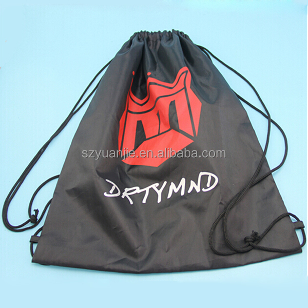 promotional polyester bag or nylon drawstring backpack with custom print