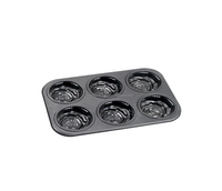 Bakeware Non-stick Cake Pans of 6 Cups Muffin Pan