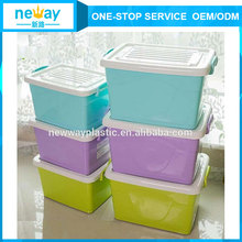adjustable compartment PP plastic storage boxes with sliding lid