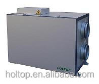 Heat Recovery Ventilator with built-in electric heater or water coil heating fresh air