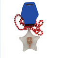Star Shaped LED Light Up Decoration Necklace with Button
