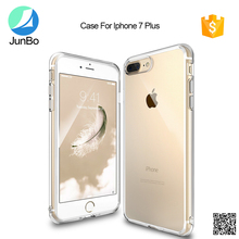 Shock-absorbent cover case with transparent TPU+PC bumper for iphone 7 plus