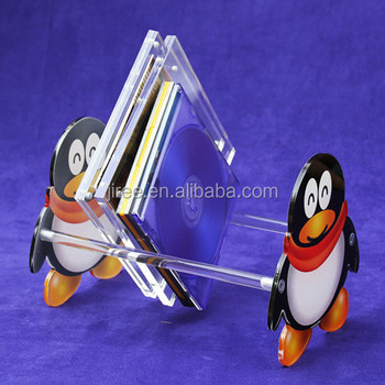 Cute Funky Modern Storage Acrylic CD rack
