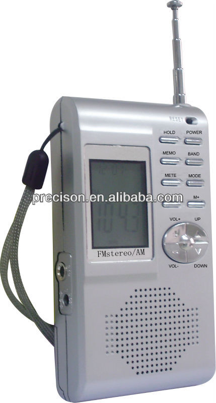 Station memory LCD display AM FM Radio