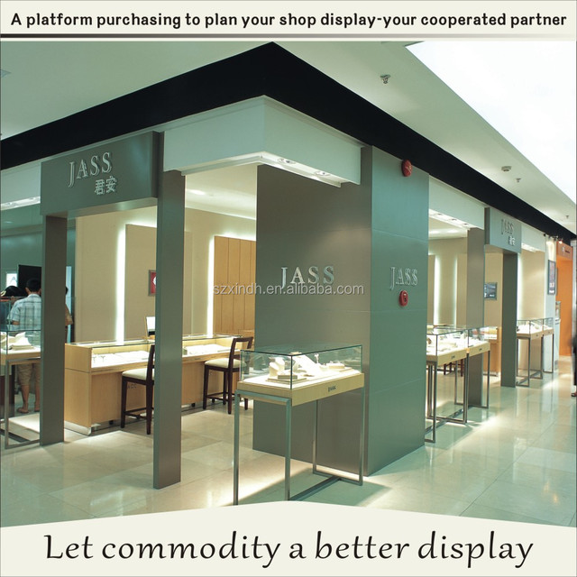 JASS high end jewelry display case for shop design idea and decoration shop
