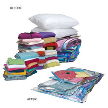 Hot Plastic Travel Space Saver Packing Mattress Compression Vacuum Seal Storage Bag