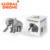 Plastic toys Animal series education model 3d plastic block toy for adults