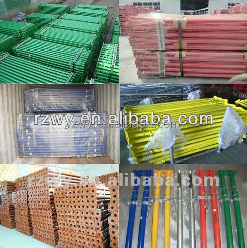 construction scaffolding material of scaffolding support steel poles