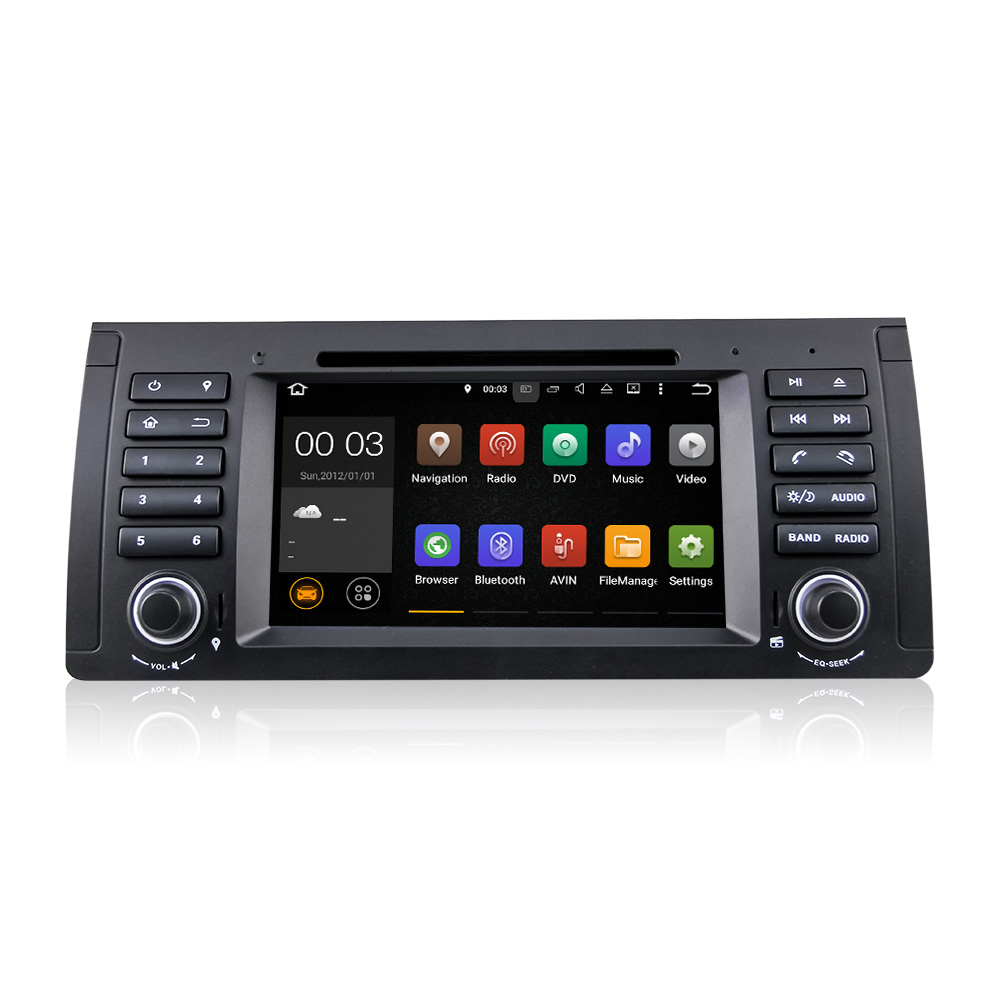 Winmark Android 5.1 Car Audio DVD GPS Player Radio 7 Inch 1 Din For BMW 5 Series E39 2002 to 2003 with New 40-Pin DU7061