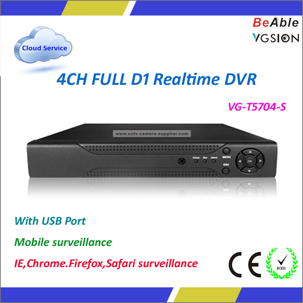 4CH Realtime DVR H264 DVR Client Support IPhone/Android