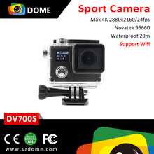 OEM hot WiFi action camera 12MP 170 Degree wireless wifi 4k sports camera diving DV 20M waterproof 64G sport cams cheap
