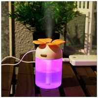 2015 wholesale tabletop flower shape mini usb personal humidifier as seen on tv