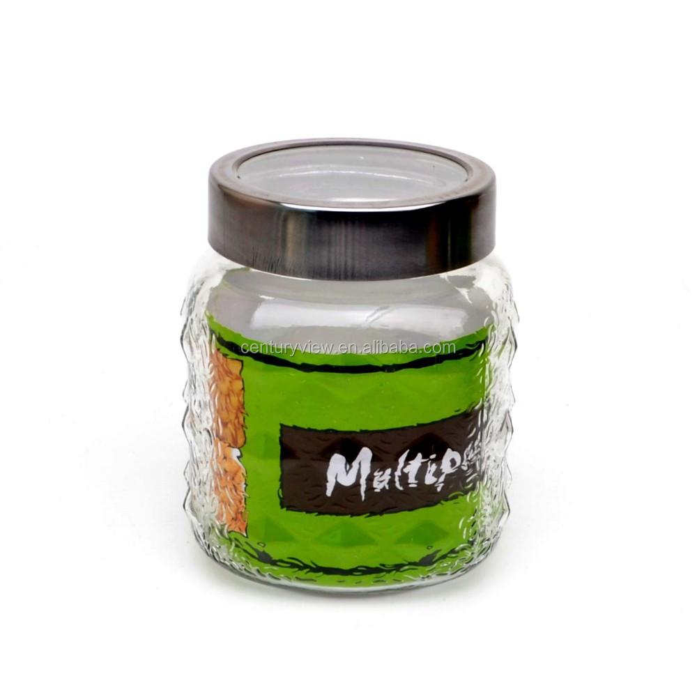 4pcs set glass body food jars with colored lid used storage buy glass baby food jars wholesale. Black Bedroom Furniture Sets. Home Design Ideas