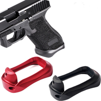 Tactical CNC Aluminum Glock Grip Adater Magwell for Glock 17 22 24 31 34 35 37 Gen 1-4 Base Pad Hunting Caza