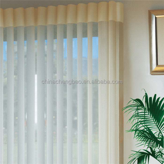 Elegant white sheer blinds office vertical blinds