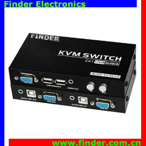 Best Price 2 port USB2.0 KVM Manual Switch 19 inch frame key switch 200MHz