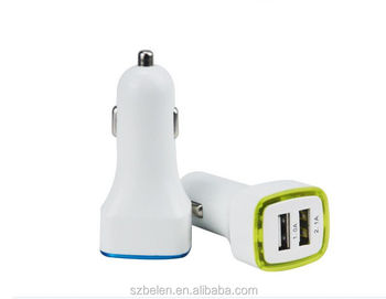Alibaba Best Sellers New Led Display 5V2.1A Dual Usb Car Charger