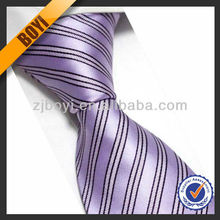 Striped Woven Purple Anime Tie