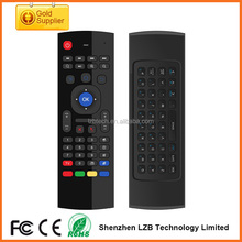 Wholesale high quality MX3 Fly Air Mouse 2.4GHz Remote Control inertia Sensors mini Wireless Keyboard