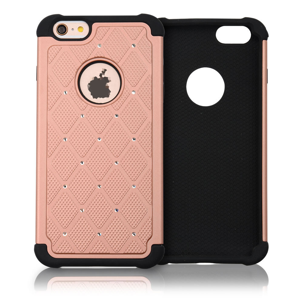 "C&T Diamond Hybrid Rugged Protective Bumper Case with Soft TPU Inlay and Dual Hard External Armor for 4.7"" Apple iPhone 6s"