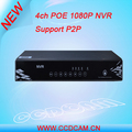 4CH PoE NVR with Audio Full HD 1080P Playback Security System Network Video Recorder Home Surveillance Products