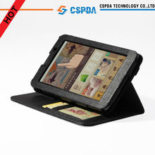 High Quality Leather Stand Case Cover For Lenovo Idea Tab A3000 7'' tablet