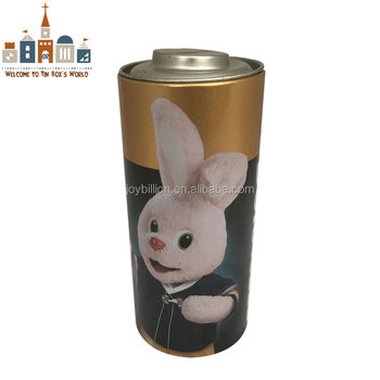 battery shape coin bank tin box with lid