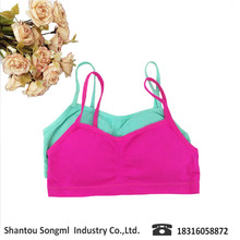 Soft sport bra and colorful bikini tight underwear with stylish comfortable fabric for kids girls