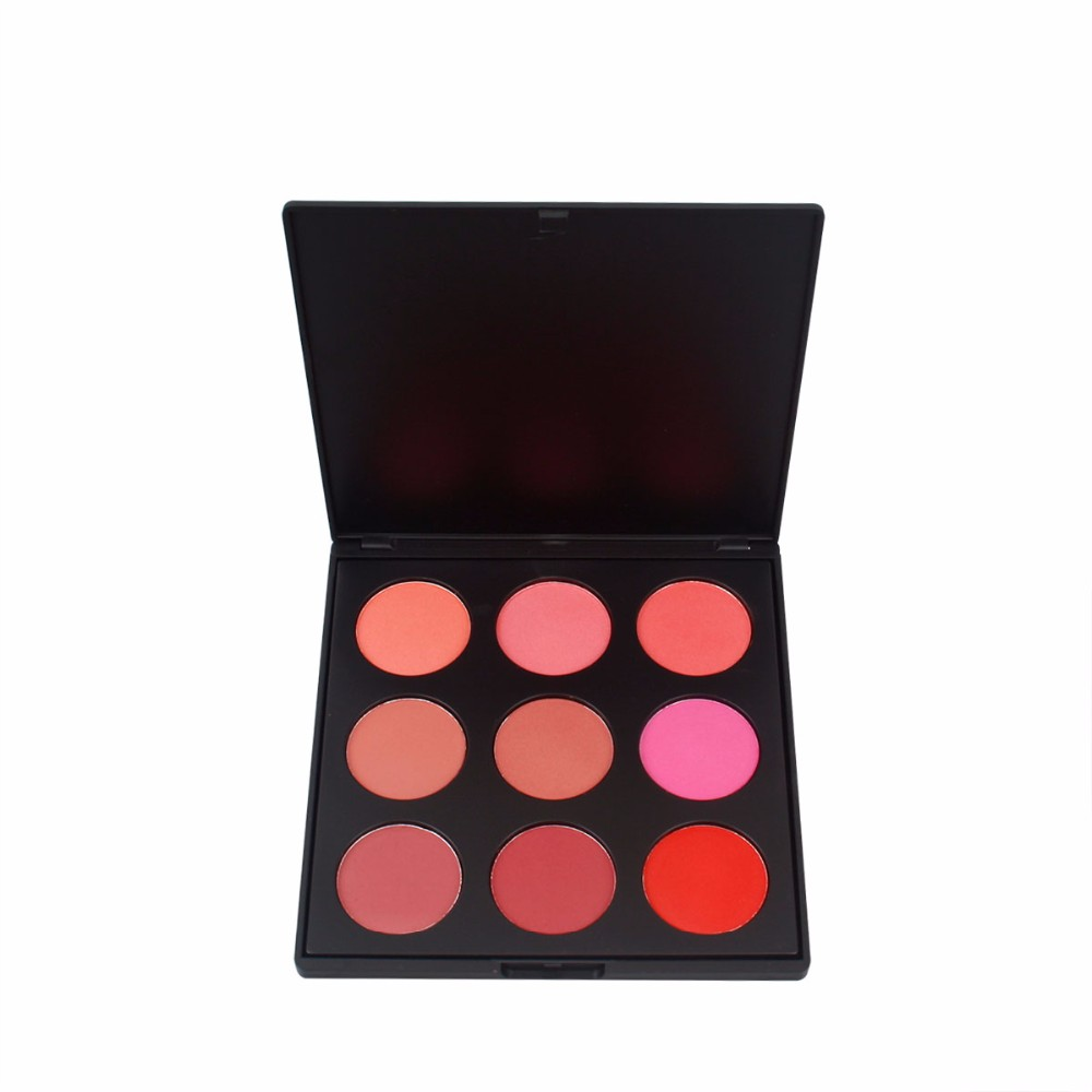 Modified face waterproof and sunscreen 9 color blush with black box