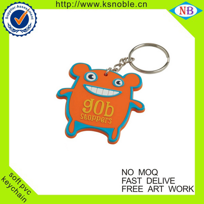 high quality cute carton kering pvc customized keychain