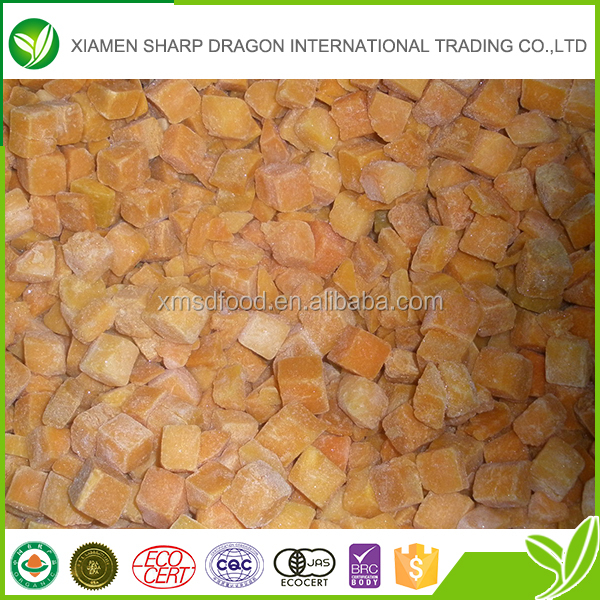 New crop bulk cheap organic frozen pumpkin chunks