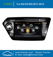 "8"" TFT LCD Screen Car Radio GPS For KIA K2 With GPS Navigation A8 Chipset Dual Core 3G Wifi BT Radio Free Map"