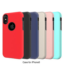 Pure Color 2 in 1 Hybrid Slim Case for iphone 8,for iphone 8 TPU Case