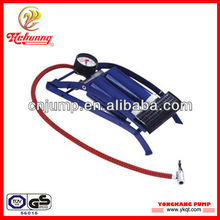 Foot air pump for motorcycle