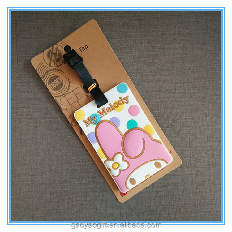 custom rubber luggage tag/rubber hang bag tag