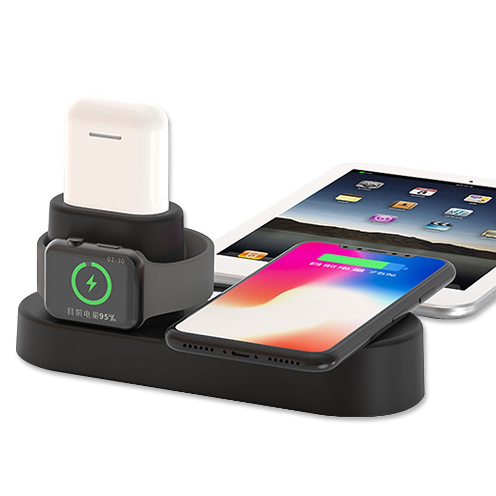 Qi Wireless Charger For Iphone X 8 for Xiaomi Fast Charger Dock Stand For Apple for iphone 11 pro max <strong>Watch</strong> 4 3 2 1