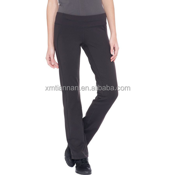 Nylon elastane Four-way stretch Semi-fitted low-rise ladies yoga pants