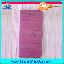 Wholesaele Pink Wood PU Case for iPhone 6