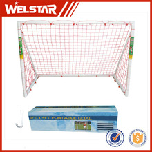 Install Set PVC Plastic Competition Soccer Goal for Training Aid Team Game, Practice and Tournament Football Doors with Net