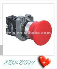 mashroom head push and pull button switch XB2-BT42