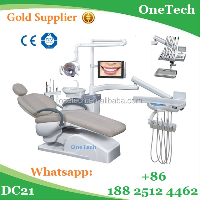 Cost effective high quality dental chair DC21 with Downstyle / Upstyle dental instrument tray and cheap price