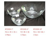 2015 fashion clear footed glass bowl clear glass fish bowl