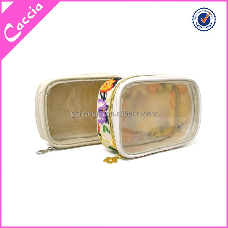 customized transparent waterproof clear zipper plastic travel pvc gift bag cosmetic bag