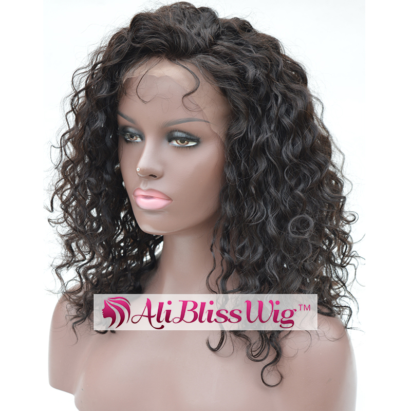Wholesale Cheap 12 Inch 150% Density Short Curly Side Part Glueless Human Hair Lace Front Wig with Baby Hair for Black Women