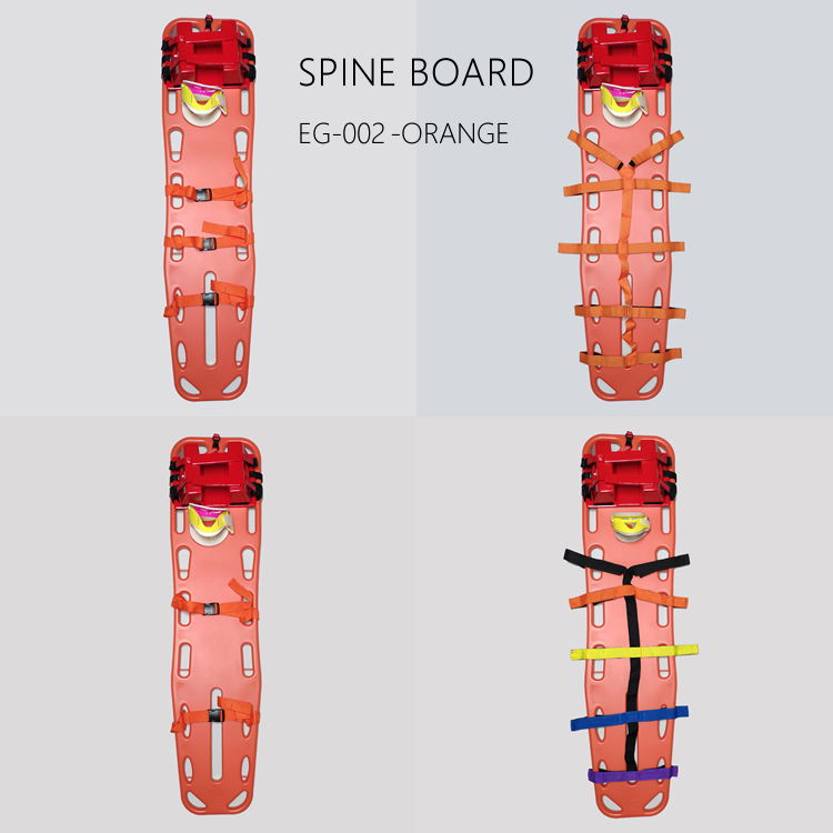 emergency set of head immobilizer,cervical collar,spine board and straps for adults and children