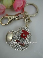 Clear Heart Love Crystal Key Ring Key Chain Purse Fob