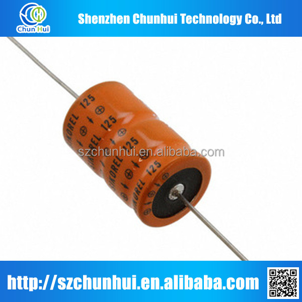 new and original axial aluminum electrolytic capacitor