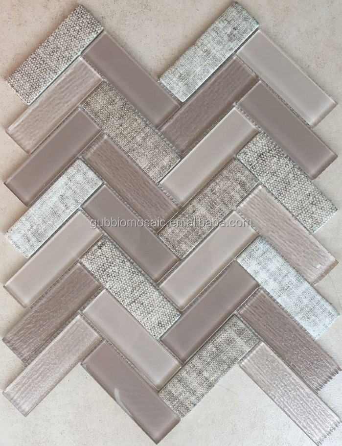 Crystal glass, Inkjet Glass mosaic mix Recycle glass mosaic tile