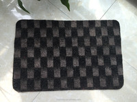 CENG CENG MAT , checkered pattern Floor mat rug with Rubber Back Non-Slip (Non-Skid) Door Mat Rug