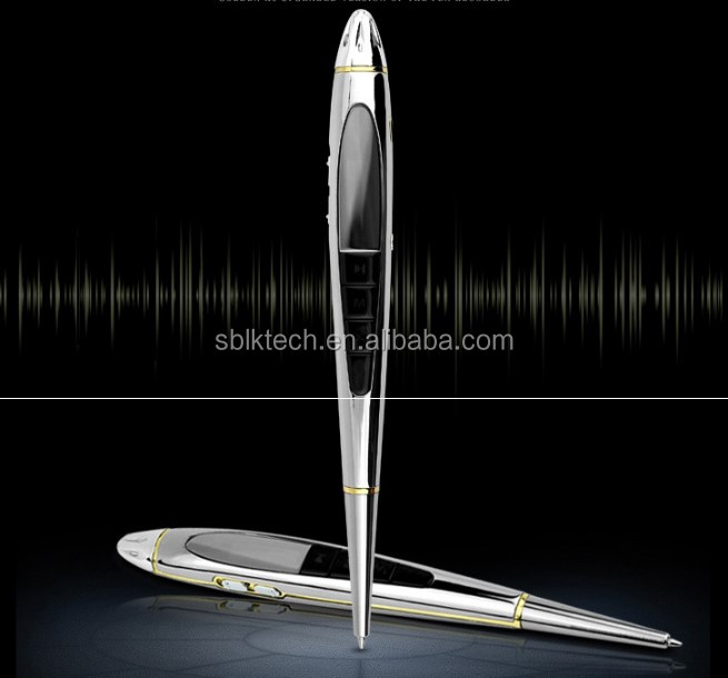 Zinc Alloy USB 8GB HQ New Digital SPY Hidden Audio DVR Voice MP3 Recorder Pen